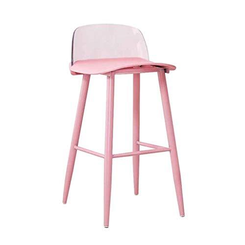 Ry-sgabello da bar sgabello da bar sgabello da cucina/schienale trasparente poltroncina da bar sedie da bar/sedie da giardino color rosa adorabile/altezza fissa 60cm, 75cm *