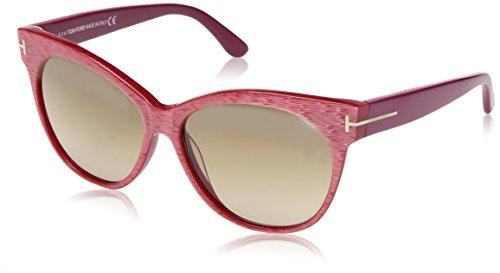 Tom Ford Damen FT0330 Sonnenbrille, Rosa 77G, Medium