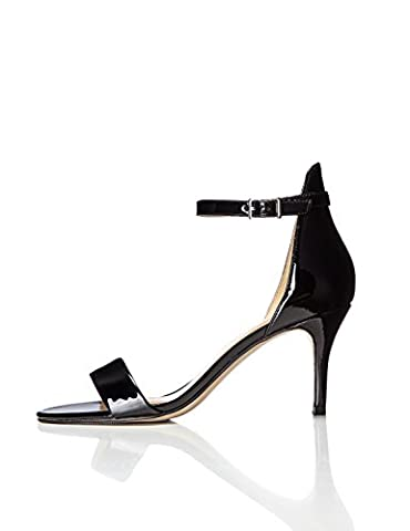 FIND Women's Barely There Ankle Strap Stiletto Heels, Black (Black), 6 UK