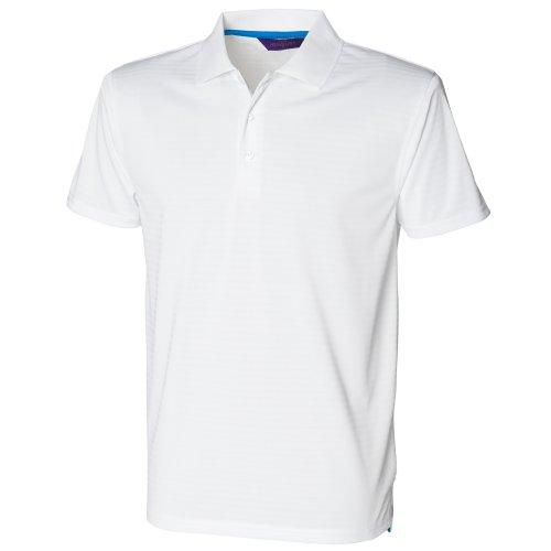 Henbury Herren Polo-Shirt CoolTouch, dezent gestreift Vivid Blau