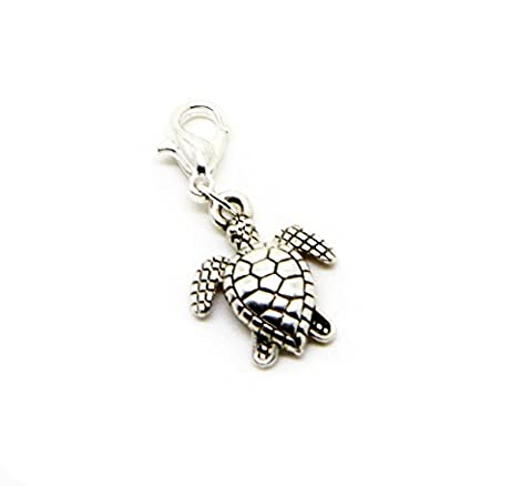 Turtle Animal Gift Dangle Bead for Silver European Charm Bracelets Clip on Charm chain link bracelet meaning charms (silver clip on)