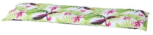 Madison 7BAN6-F079 Gartenbank, 2-Sitzer, 120 x 48 cm, Baumwolle / Polyester, Vogeldesign lime