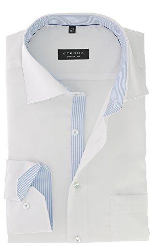 ETERNA long sleeve Shirt COMFORT FIT Natté structured Bianco