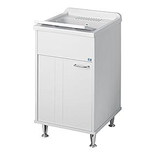 Negrari 9046A Waschbecken aus Kunstharz, für Außen, Weiß