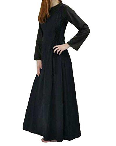 Vestito Medievale Da Donna Senza Maniche Gotico Vestito Costume Del Vestito Swing Nero S