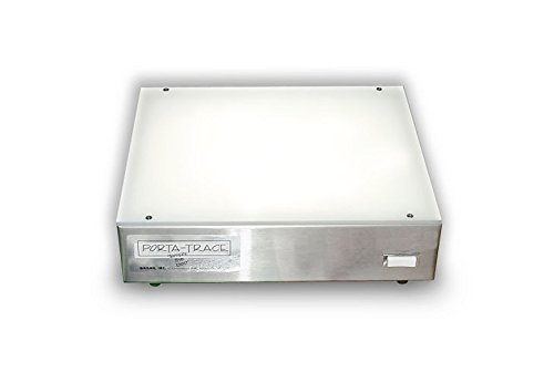 Porta-trace 1 Porta Trace 1012-1L 10 x 12-inches Stainless Steel Frame Lightbox with LED last up to 50,000 hours by Gagne Gagne Porta-trace Led