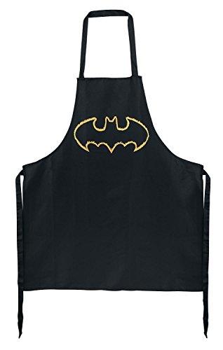 "Batman 0122036 Kochschürze ""Fledermaus"", Stoff, schwarz, 24,6 x 17,6 x 1,7 cm"