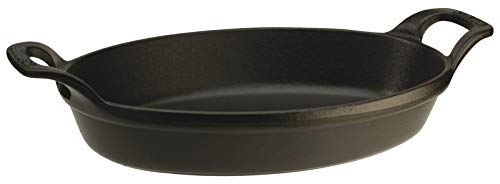 Staub 1302323 Plat Ovale Empilable Fonte Noir 24 cm