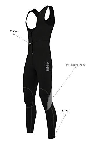 SelectCyclingWear Herren Thermo-Rad-Trägerhose Leggings Softshell Hose aus Super Roubaix mit Trägern, Herren, XXL-38
