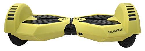 """8\"""" SILISKINZ® Custodia in silicone per silicone Hoverboard da 8 pollici SILISKINZ® - Per Smart Scooter Hoverboard Swegway 2 ruote da 8\"""" (SI ILLUMINANO AL BUIO - GIALLO MORBIDO)"""
