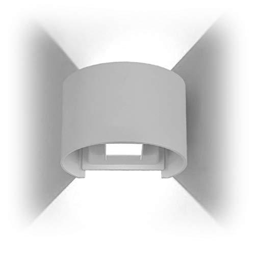 PHOEWON Interieur Exterieur Ajustable 7W LED Aluminium Applique Murale / Applique Eclairage / éclairage Murale / Appliques Chambre / Lampe Murale / Mural led / Lampe Nuit Imperméable pour Salon (Demi-cercle)