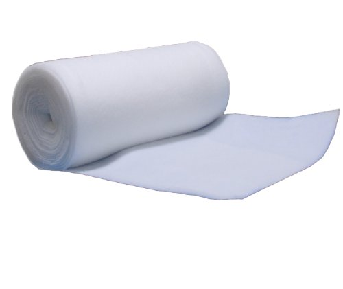 Volumenvlies 100g/m², 1,40 m breit x 2,50 lang, ca. 10 mm dick, 3,5 m², (EUR 4,69/m²) 100 {43ce324cb28c7f5a7f30a8c82da92f336bcd46a83dca402b54d9227a780a145a} Polyester, waschbar, Öko-Tex Standard 100, Produktklasse 1, Meterware, Patchworkvlies, Polstervlies