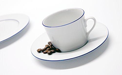 Retsch Arzberg Heike Blaurand Rund Kaffeeservice 18teilig Für 6 Personen / Porzellan / Weiß/blau /...