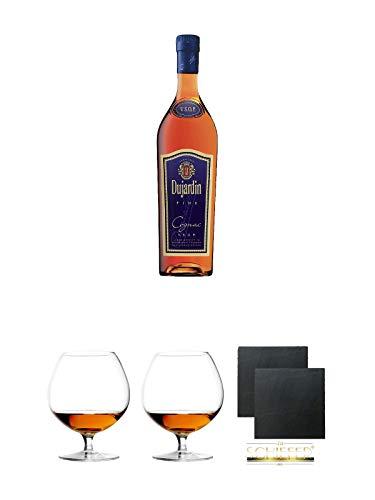 Dujardin Fine Weinbrand 40% 0,7 Liter + Cognacglas/Schwenker Stölzle 1 Stück - 103/18 +...