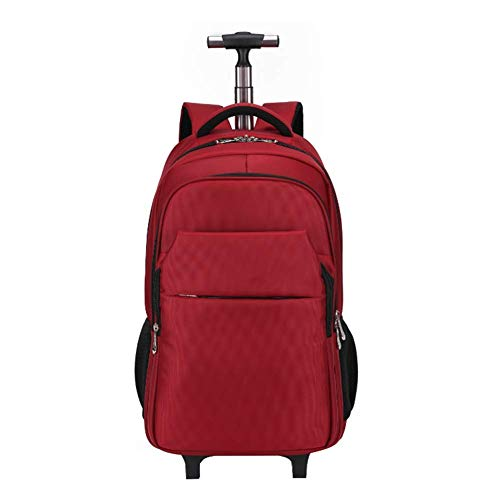 LQSJB Super Lightweight Business Travel Wheeled Rolling Laptop PC Tablet Computer Trolley Backpack Suitcase Hand Luggage Cabin Approved Bag -