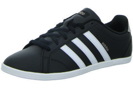 adidas Damen Vs Coneo QT Fitnessschuhe, Schwarz (Core Black/Ftwr Wht/Vapour Grey Met.f16), 40 2/3 EU (Tennis-schuhe Box)