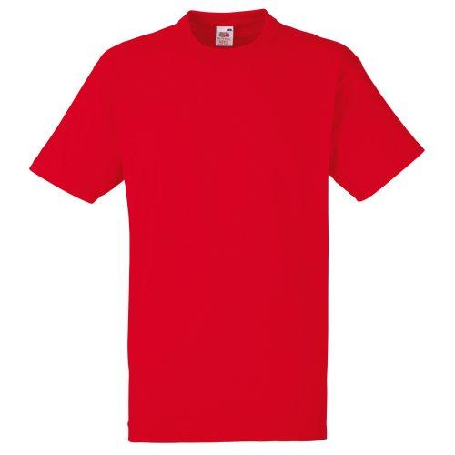 fruit-of-the-loom-maglietta-100-cotone-uomo-l-rosso