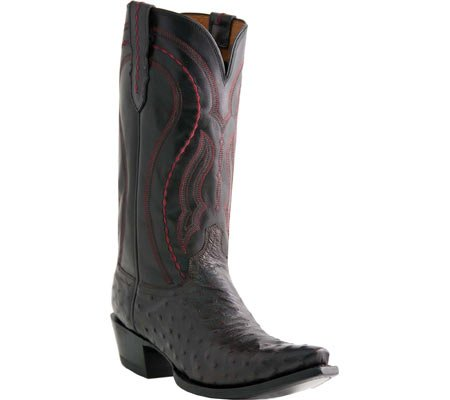 Lucchese M1609 Hommes Cuir Santiags Black Cherry