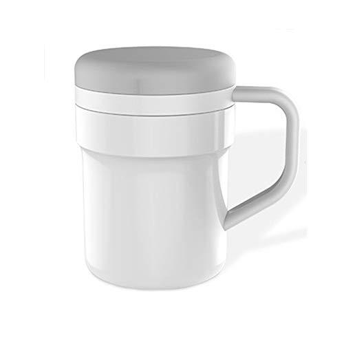 WEYQ Automatisches Mischen Kaffeetasse Magnetbecher ohne Batterie Schwarz Technologie Kaffee Rühren Geburtstagsgeschenk Büro 320ml Küche Familie Reisen Geschenk Tasse Mischen Tasse,Weiß