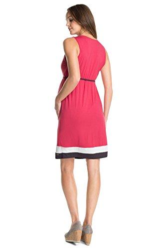 Esprit Maternity E84269 - Robe de Maternité - Femme 607 - Camellia Rouge
