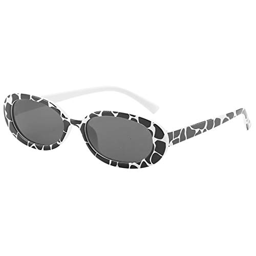 iYmitz Sonnenbrille, Unisex Klassische Mode Kleine Rahmen Damen Herren Vintage Retro Unregelmäßige Form Brillenfassung Brille(Mehrfarbig,C)