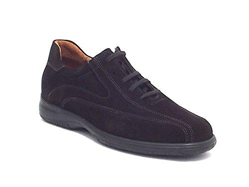 Soldini uomo, klimacomfort 15349, scarpa casual in camoscio, colore testa di moro