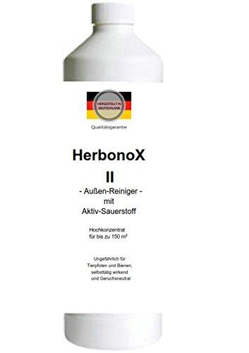 Superol - HerbonoX II/Glyphosatfreier Aussenreiniger zur Entfernung aller Umweltverschmutzungen/Selbsttätig wirkend und ungefährlich für Haustiere und Bienen/1 Liter Hochkonzentrat (Flasche, 1 Liter)