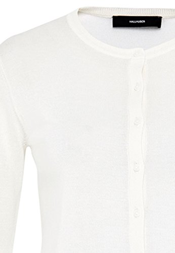 HALLHUBER Cardigan basic en fine maille Blanc Cassé