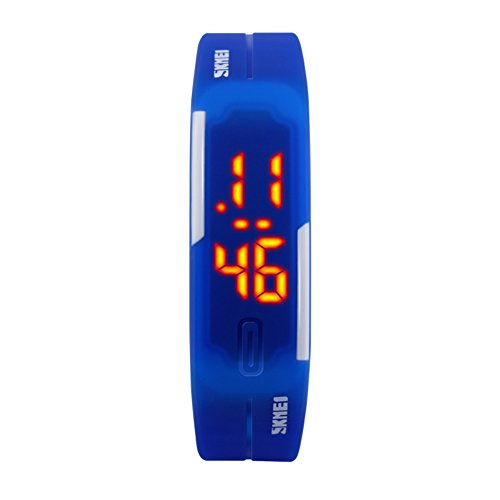 ZY Armbanduhr, elektronische Armbanduhr der Kinder/Art und Weisepersönlichkeits-koreanische Tendenz LED-Uhr/Gummiband/leuchtende/Gelee-elektronische Uhr,A -