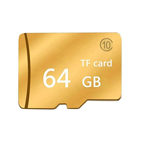 Price comparison product image Yaoaomon Gold Micro-SD Sd Tf Memory Card Class 10 Particles Memory Card Large Capacity Gold 64G