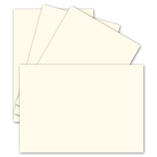 (Einzelkarten DIN A6 | Naturweiß | 100 Stück | Premium QUALITÄT - 10,5 x 14,8 cm - sehr formstabil - für Drucker geeignet! Ideal für Grußkarten und Einladungen - Qualitätsmarke: NEUSER FarbenFroh)