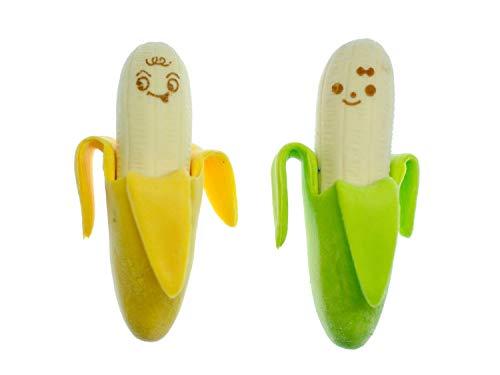 Miniblings 2er Set Bananen Radiergummi Radierer 5cm Obst AFFE Banane Frucht
