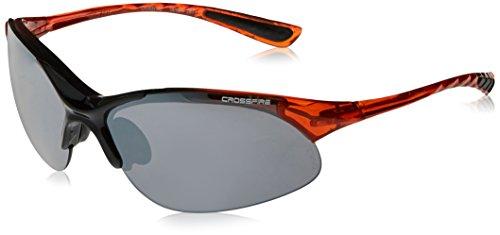 Crossfire 1583Cobra schwarz/crystal Burnt Orange Rahmen Sicherheit Sonnenbrille w/Silber Spiegel Objektive -