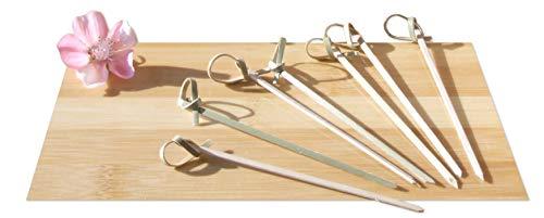 Bambusspieße Schwertform, Japanischer Stil, 10cm, 100 Stück
