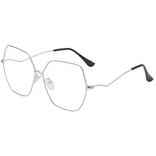 EUCoo Metall Sonnenbrille Sommer PersöNlichkeit Street Trend Punk-Stil Sechseckigen Brillengestell