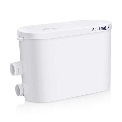 Aquamatix Silencio 2 Automatisch Hebeanlage für Dusche, Waschmaschine Mit Integriertem Aktivkohlefilter, Sehr Leise (Waschbecken Waschmaschine,)