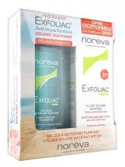 exfoliac-fluide-solaire-matifiant-spf-50-40-ml-gel-doux-nettoyant-purifiant-250-ml-offert