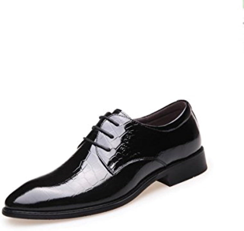 Männer Business Kleid Schuhe Spitze Spitze Einzelne Schuhe Glanz Leder