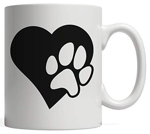 Dog Puppy Gift - I Love Dogs Paw Print Heart Cute Women Men | For Animal Lovers Owners & Rescuers Perfect Gift to Give Your Pet Sitter Dog Walker or Veterinarian Retrievers Shepards or Terriers -