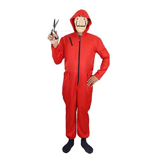 Fanstyle Haus von Papier Dali Rot EIN Stück Clown Kostüm Halloween COS Dali Jumpsuit