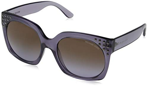 Michael kors 0mk2067 occhiali da sole, multicolore (dark purple crystal), 56 donna