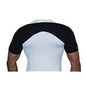 Neopren-Schulterbandage für beide Schultern–Für Verletzungen, Arthritis, Schmerzlinderung, Fitnessstudio und Sport.–Schwarz–A1