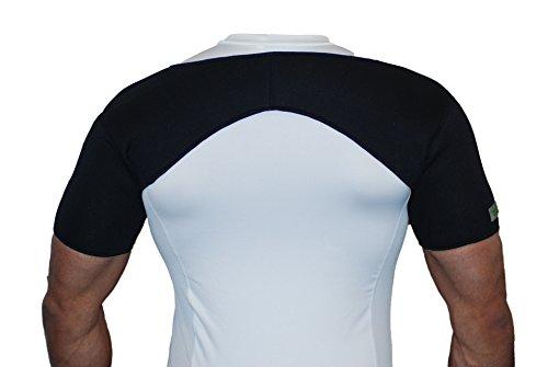 Neopren-Schulterbandage für beide Schultern–Für Verletzungen, Arthritis, Schmerzlinderung, Fitnessstudio und Sport.–Schwarz–A1, Schwarz , Large