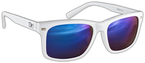 Dice Unisex Sonnenbrille, shiny white/blue, one size, D06210-22
