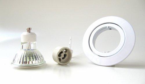 3er-Set LED Einbaustrahler PAGO 230V Farbe: Weiß – inkl. austauschbarem LED-Leuchtmittel wahlweise in Warm-Weiß oder Kalt-Weiß