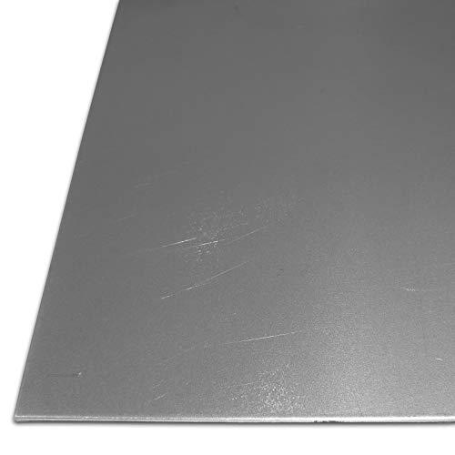 B&T Metall Stahl-Blech blank geölt St 1203 | 0,75mm stark | Feinblech DC01 im Zuschnitt Größe 50 x 100 cm (500 x 1000 mm)