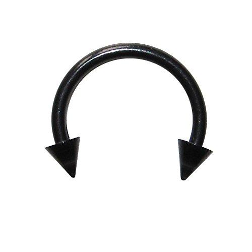 Piercing-Tragus-Septum-Bioplast-Blackline-Negro-Spikes-VotrePiercing-12-x-10-x-3-mm