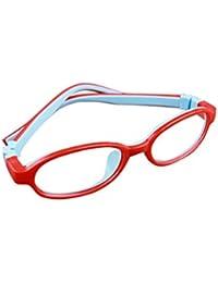 De Ding - Montura de gafas - para niña multicolor Red Blue