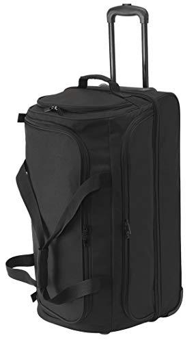 Reisetasche mit Rucksack und Trolley Funktion XL Doppeldecker 70x40x35cm Schwarz Bowatex