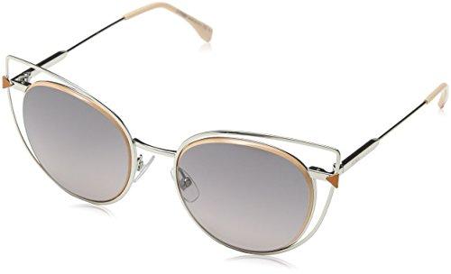 Fendi Damen FF 0176/S EU 010 53 Sonnenbrille, Silber (Palladium/Grey Sf),